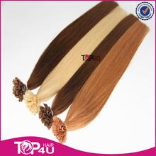 Wholesale 100% Brazilian remy italian keratin hair extensions