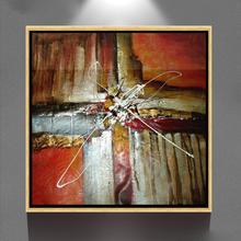 Hechos a mano decoración abstracta bodegón pintura al óleo en la lona