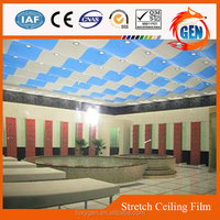 interior soft materials decorative plastic vivid pvc insulated blue ceiling film