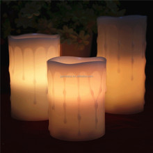 Citronela vela parpadeante wick electrónico led luz de las velas, tealight vela