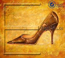 Hermosos zapatos de tacón alto bodegón pintura al óleo decoración