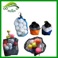 nylon mesh bags ball sack backpack / polyester mesh bag / pouch hexagonal hole golf