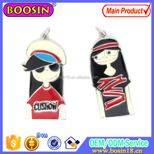 Trendy Custom Alloy Pretty Boy and Girl Charm For Best Friend Gift Charm Jewelry #17003