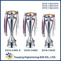 Wholesale metal trophy base ping-pong silver trophy award memento golden souvenir 2314-1 metal trophy China