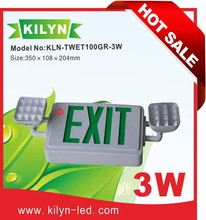 Dual voltage operation CUL listed Ni-Cd battery Emergency lamp exit sign combo