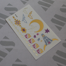 Romantic moon MS-R-44 temporary gold foil tattoo for face