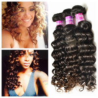 New coming top garde human hair can be dyed virgin malaysian hair deep wave loose deep wave weave hairstyles
