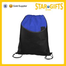 2015 hot sale silk screen printing light weight club drawstring sport bag