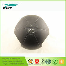 Two handles double grip rubber 3kg medicine ball with handles