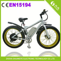 "alloy frame 26"" 4.0 fat tire electric bike"