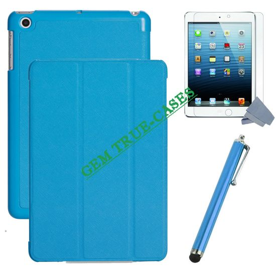Stand leather case cover for iPad mini with factory price,China supplier leather smart cover for iPad mini with high quality