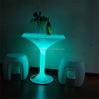 16 colors lighting outdoor rattan bar table with remote rgb IP44