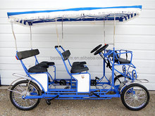 four person bike 4 wheel bicycle with steel frame