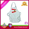 Top sell white silk screen printing apron