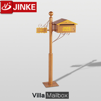 Apartment Building Mailbox,New Design Outdoor Free Standing Waterproof Wrought Iron Mail Box