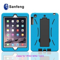 Silicone soft skin-touch case cover for ipad mini 4 hard pc tabelet cover for ipad mini 2 3 4
