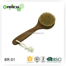 Promotional wooden long handle bath brush for body cleaning