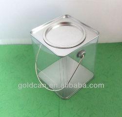 square pvc tin can