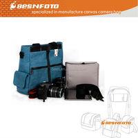 Zhongshan Besnfoto 2014 New design Canvas Camera and Laptop Digital Camera Bag, shoulder bag