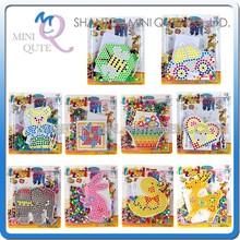 Mini Qute 10 style DIY Ironing Hama Perler Beans 3D Jigsaw Animal pattern Model building block kids educational toy (Accept OEM)
