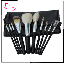 Hot sale 9 piece black makeup brush /OEM factory/ cosmetics makeup brush set