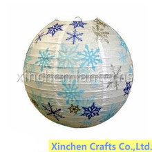 colorful snowflake Chrismas decorative paper lanterns