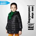 Kids Boy abajo chaqueta con capucha para el invierno