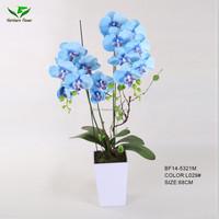 handmade blue artificial orchid flower wholesale