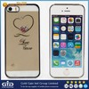 Electroplating Diamante PC Case for Apple for iPhone 5S