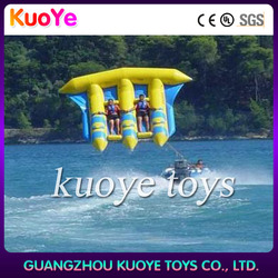 cheap inflatable flyfish toys for ocean, water game inflatable flying fish, inflatable flying fish boat