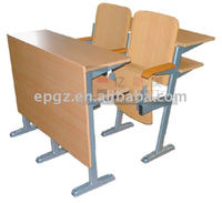 classroom step table and chair,auditorium desk and chair