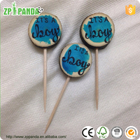 """party decoration christmas cake decorating tools printed letter """"it is a boy """"it is a girl"""" or cusomized"""