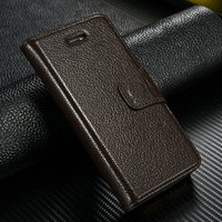 High Quality Custom Genuine Leather Wallet Cover Flip Case for iphone 5