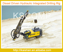 Drill rig KSCOMP-KT55 ideal for construction stone quarrying with hole diameter 80-105 mm and rated hole depth 20 m