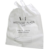 custom disposable PE Hotel Laundry Bags with PE draw type handle