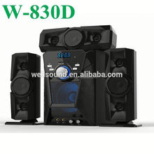 portable subwoofer with USB/SD/FM/2MIC/REMOTE CONTROL/LED DISPLAY