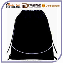 Wholesale polyester drawstring bag reusable shopping bag