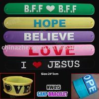 New style silicone snap bracelet and slap on your wrist ruler bracelet