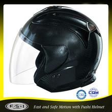 DOT Motorcycle Street Sport Bike Open Face Adult Helmet Carbon Fiber