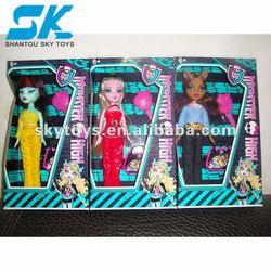 Plastic fashion girl dolls Nice and beautifully plastic doll toys for kid decorations fashion doll