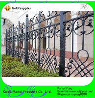 Home Garden Decoration Antique Bronze Color Wrought Iron Metal Fence Panels