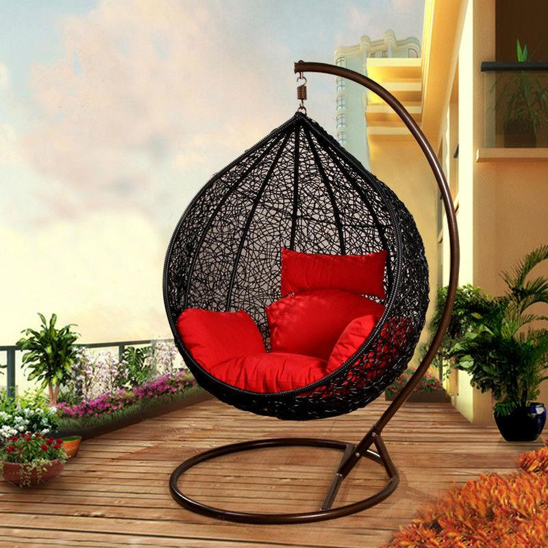 Al aire libre muebles de mimbre cesta colgante silla - Silla colgante mimbre ...