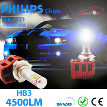Qeedon new arrival car alarm led indicator lights panel 60x60 headlight for proton wira