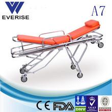 Medical emergency aluminum alloy portable ambulance stretcher,folding stretcher trolley