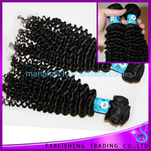 Brazilian double weft kinky curl hair weave simplicity sew in human hair extensions 3pcs lot crochet hair extension