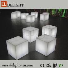 led cube light/ cube chairs for kids/ led illuminated cubes lighting