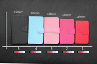 Hot selling lychee pattern pu leather universal mobile phone case, various sizes & colors