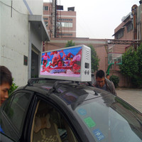Aliexpress popular shenzhen factory outdoor led screen/car roof top advertising