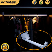12V battery/ adapter wardrobe rail light motion sensor, automatic led wardrobe light with battery