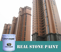 CRYSTONE A-015 waterborne stone effect spray paint- interior & exterior natural stone coating